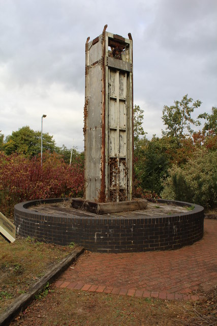 Lifting cage at number 1 shaft - Bersham Colliery