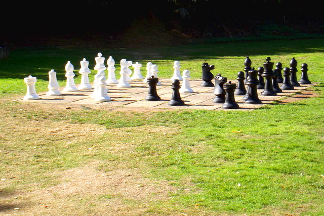 Outdoor chess at Bletchley Park