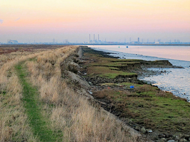The eastern edge of Chetney Marshes by Horse Reach, The Swale