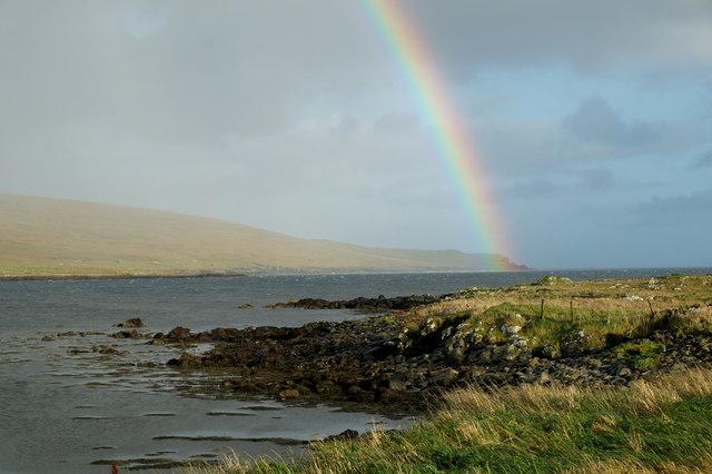 Rainbow's end, Haroldswick