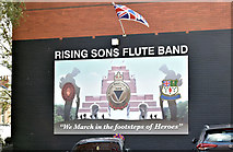 J3573 : Rising Sons mural, The Mount, Belfast (October 2018) by Albert Bridge