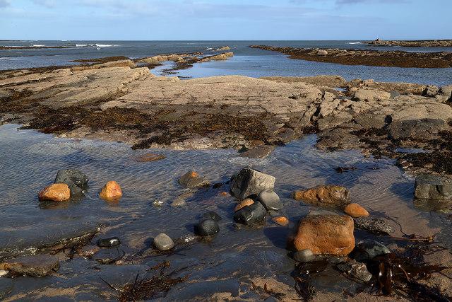 Low tide at the Berwickshire Coast