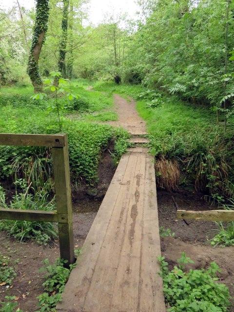 Footbridge over Boundary Brook