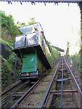 SS7249 : Halfway on the Lynton & Lynmouth Cliff Railway by Gareth James