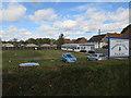 TL8093 : Mundford Village Bowls Club by Hugh Venables