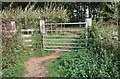 SU8137 : Gate on footpath by John P Reeves
