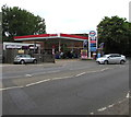 TQ1568 : Esso filling station, Hampton Court Road, East Molesey by Jaggery