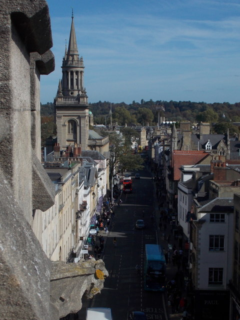 Oxford: along the High Street from Carfax Tower