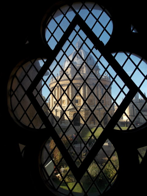 Oxford: the Radcliffe Camera from midway up St Mary's
