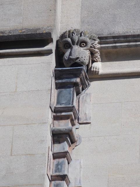 Oxford: drainage gargoyle on All Souls College