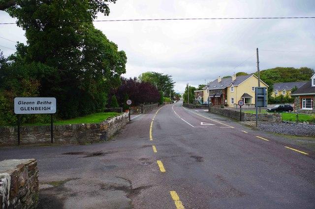 R564 road entering Glenbeigh, Co. Kerry