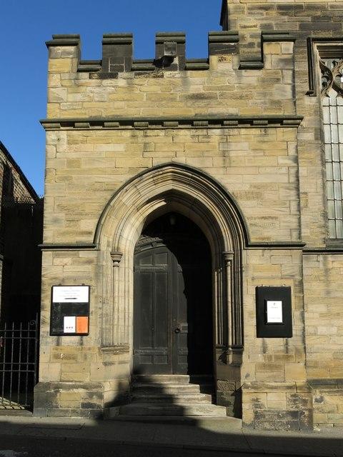 The Church of St. Matthew, Big Lamp, Summerhill Street, NE4 - west porch
