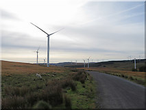 SN9402 : Track through the Mynydd Bwllfa wind farm by Gareth James