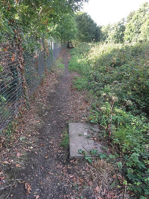 Footpath along railway