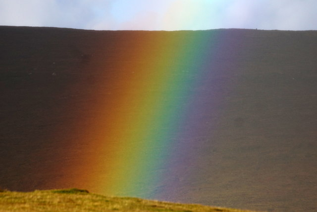 Close-up of a rainbow, Baltasound