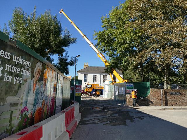 Construction site, Endless Street, Salisbury
