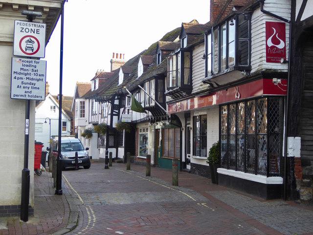 High Street buildings, East Grinstead