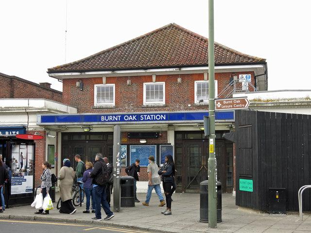Burnt Oak tube station - entrance building