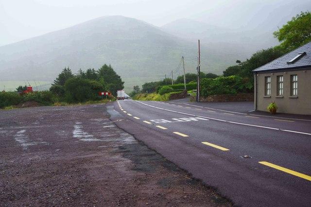 N70 road at Gleesk, Kells, near Cahirciveen, Co Kerry
