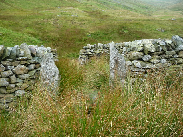 South entrance / exit, complex restored sheepfold, Ramps Gill