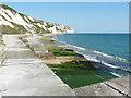TR2437 : Coastal defences, The Warren by John Baker