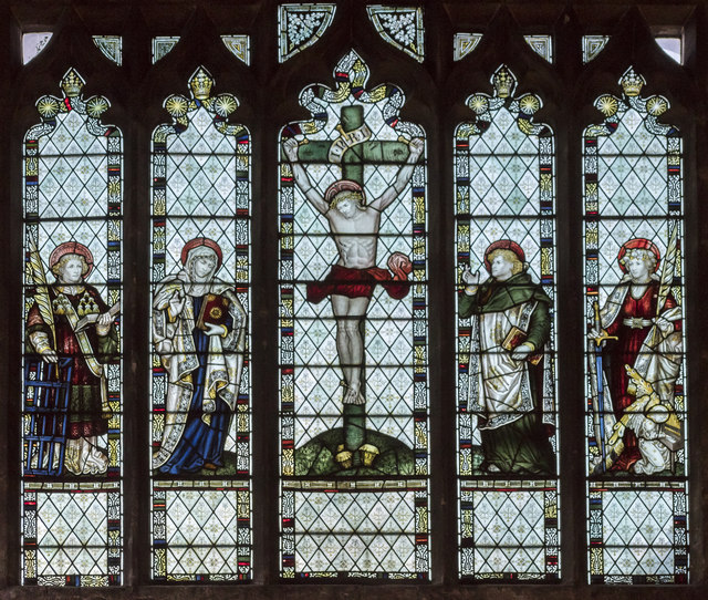 Stained glass window, St John the Baptist church, Cirencester