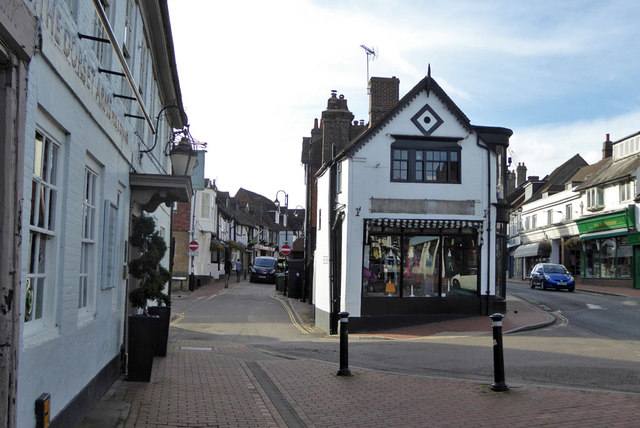 East end of Middle Row, High Street, East Grinstead