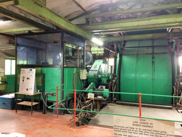 In the engine house at Bersham Colliery