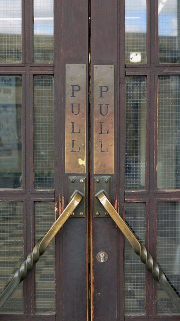 Burnt Oak tube station - entrance doors