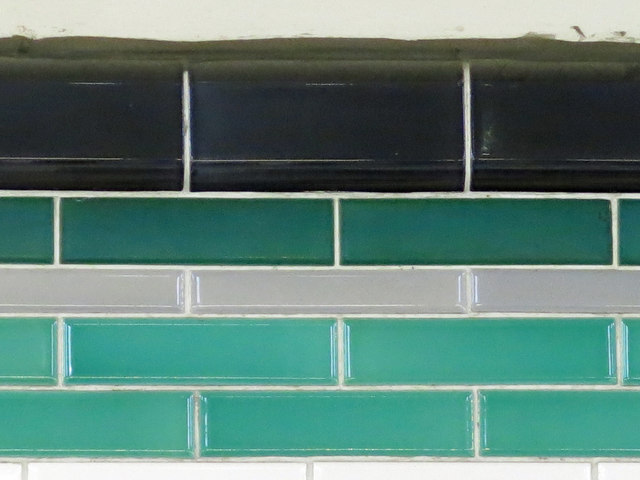 Burnt Oak tube station - tiling