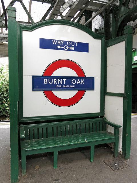Burnt Oak tube station - bench