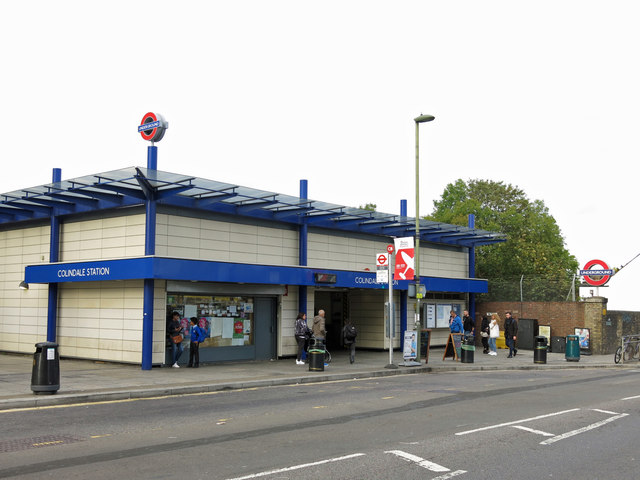 Colindale tube station - entrance building