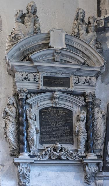 Memorial to Sir William Master, St John the Baptist church, Cirencester