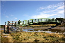 SH3182 : Footbridge over the Afon Alaw (Anglesey Coastal Path) by Jeff Buck