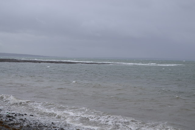 Rock ledge, Rhinevilla Bay, Shannon Estuary
