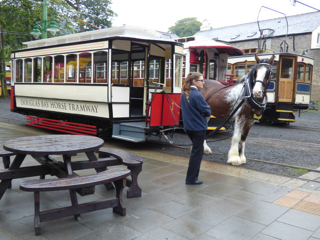Horse tram No 1 at Laxey