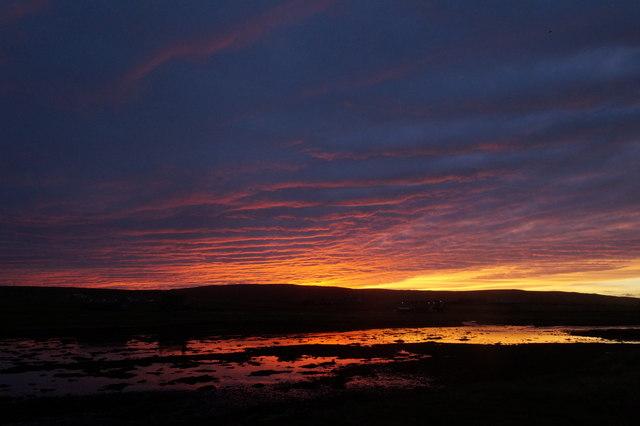 Sunset at the Houb, Baltasound