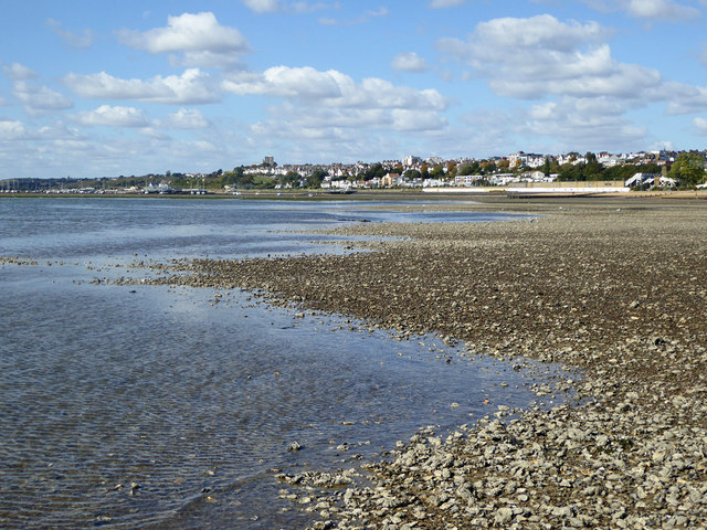 View towards Leigh from Chalkwell Oaze