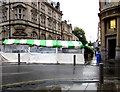 ST3188 : Temporary stalls at the eastern end of Bridge Street, Newport by Jaggery