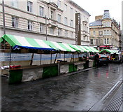 ST3188 : Temporary stalls outside Newport Market by Jaggery