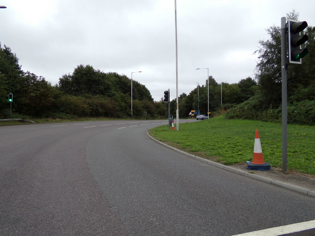 Roundabout at junction 9 off the M20 Motorway