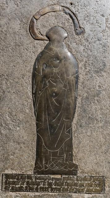 Memorial Brass, St John the Baptist church, Cirencester