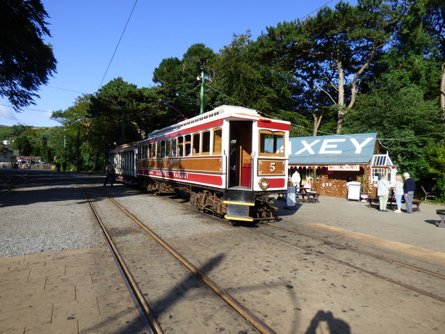 Car 5 and trailer at Laxey