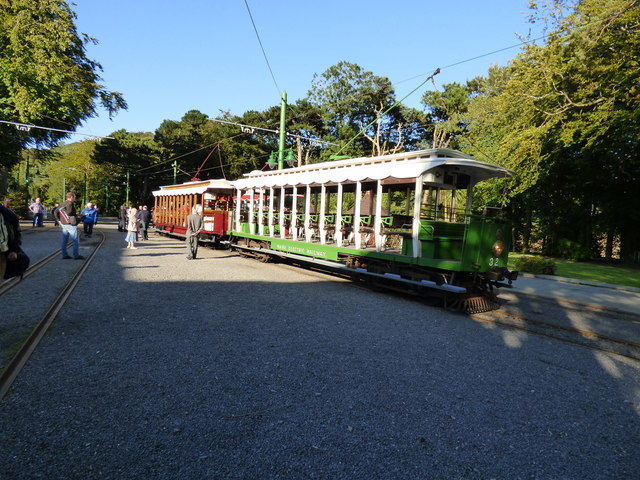 Crossbench cars at Laxey