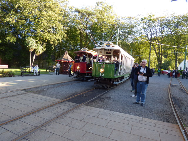 Cars 32 and 33 at Laxey