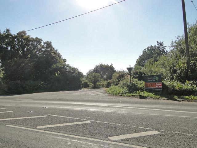 Site of former level crossing near Langor bridge