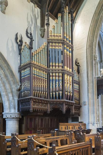 Organ, St John the Baptist church, Cirencester