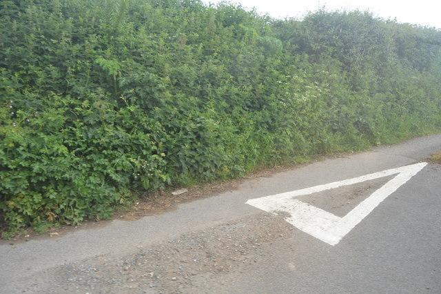Lane off A379