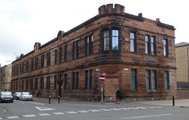 Former Govan tram depot offices by Thomas Nugent