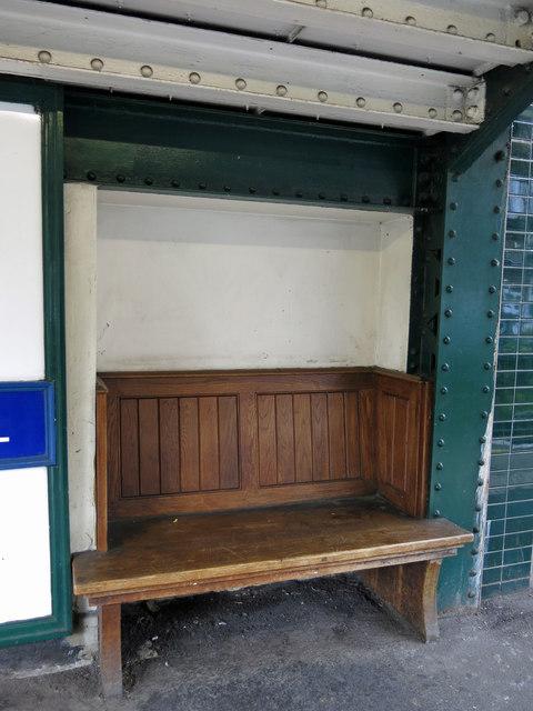 Hendon Central tube station - bench